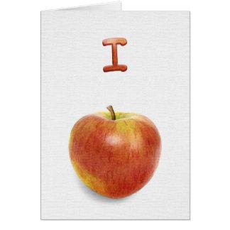 I apologize! (I apple-ogize). Card