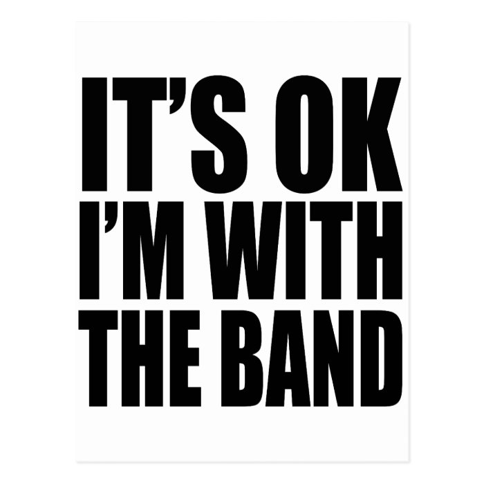 I'M WITH THE BAND - 4 LIGHT Postcard