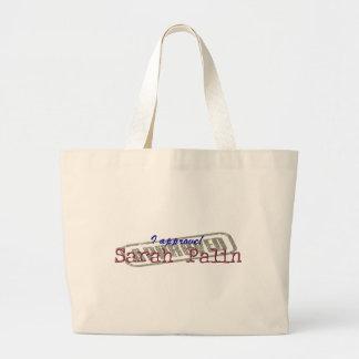 I Approve Sarah Palin Beach Bag