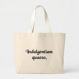 I ask your indulgence. canvas bag