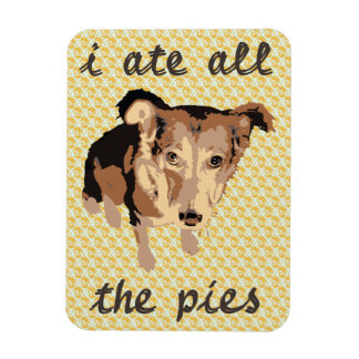 I ate all the pies fridge magnet