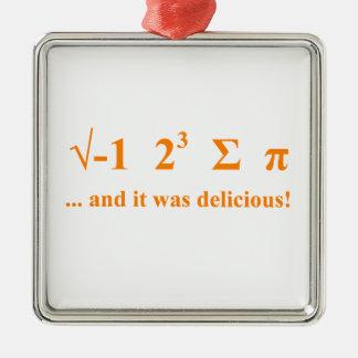 I ate pi christmas ornament
