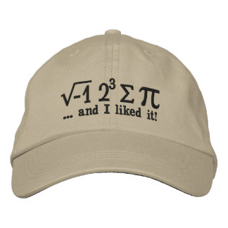 I ate some pi and I liked it Decor Embroidered Hat
