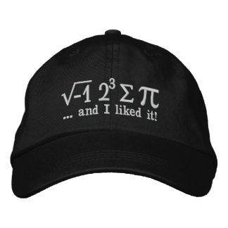 I ate some pi and I liked it Math Pun Embroidered Hat