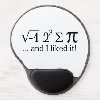 I ate some pie and I liked it Typography Gel Mouse Pad