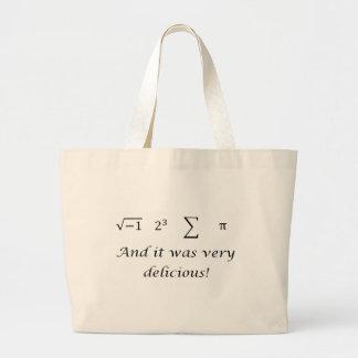 I ate some pie math shirt canvas bag