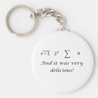 I ate some pie math shirt key ring