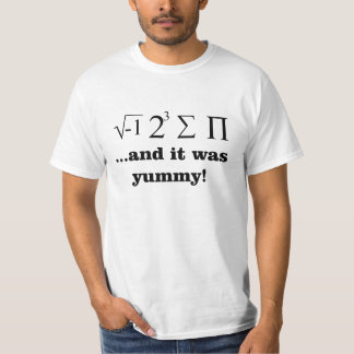 I ate some pie nerdy math t-shirt
