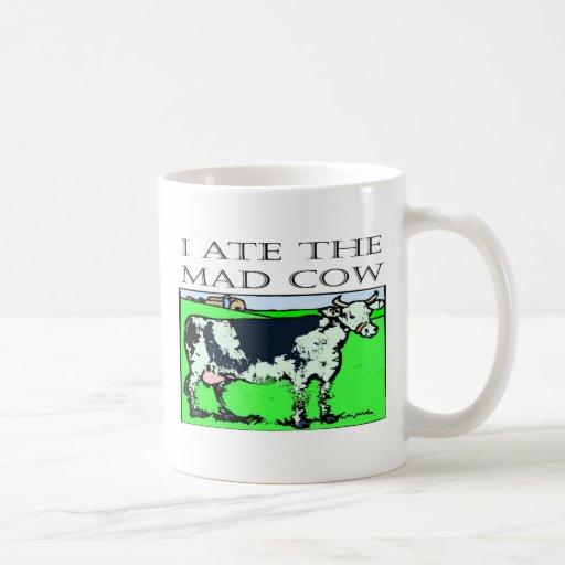 I ATE THE MAD COW COFFEE MUGS