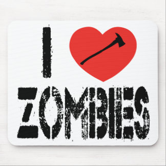 I Axe Zombies Mouse Pad