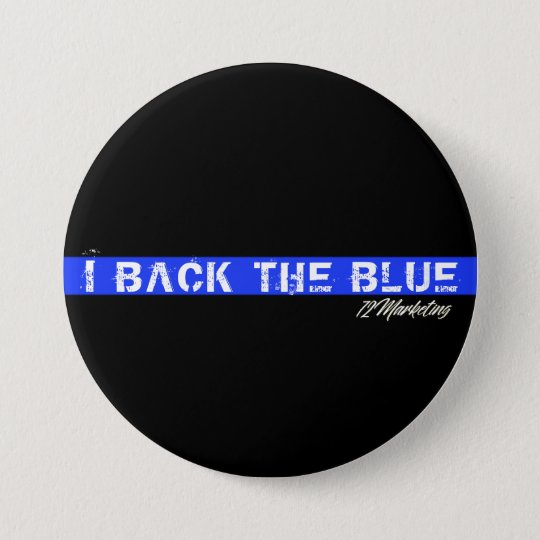 I back the blue police cops button