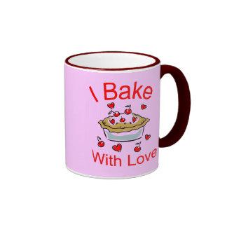 I Bake with Love (1) Ringer Mug