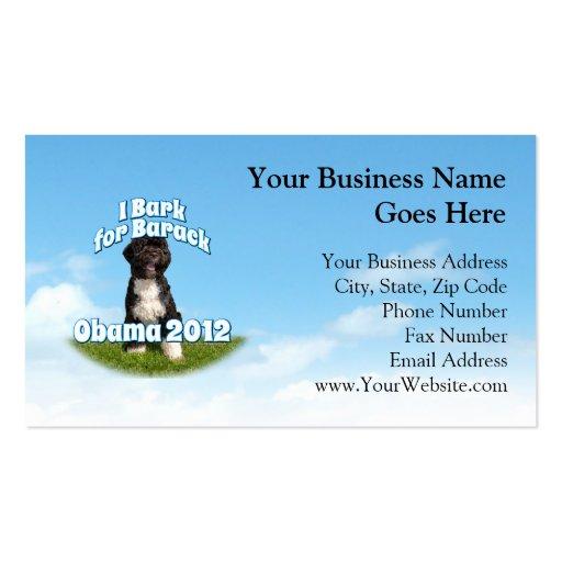 I Bark for Barack, Bo the First Dog Obama Business Card