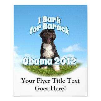 I Bark for Barack, Bo the First Dog Obama Flyer Design