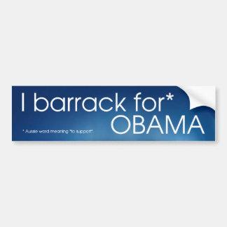 I barrack for Obama Bumper Sticker
