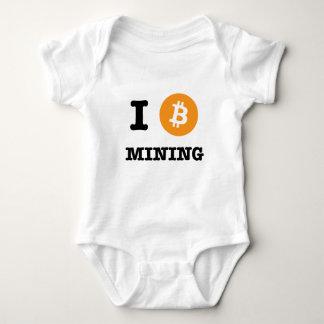 I Be Bitcoin Mining/ I Heart Bitcoin Mining Baby Bodysuit