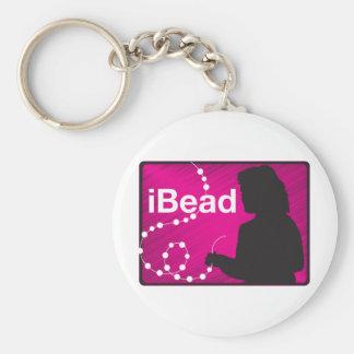 I Bead Key Ring