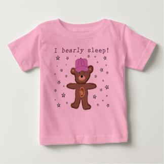 I Bearly Sleep (pink) Baby T-Shirt