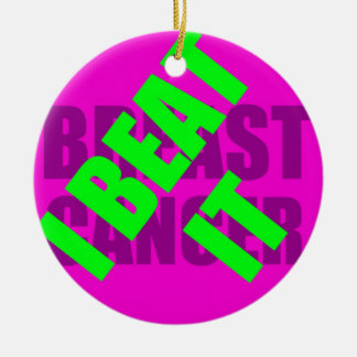 I Beat Breast Cancer Christmas Ornament
