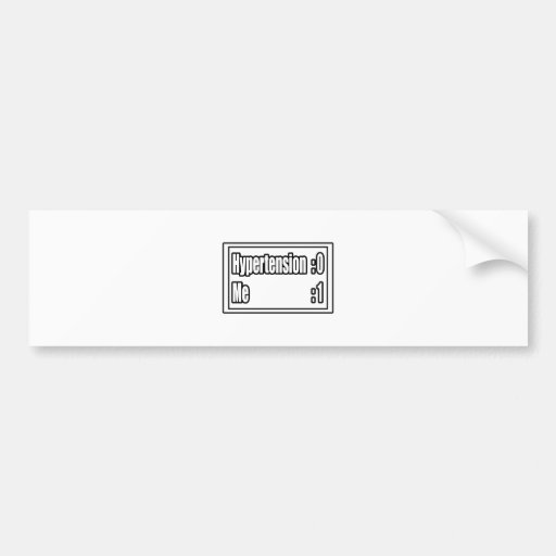 I Beat Hypertension (Scoreboard) Bumper Sticker