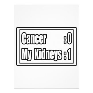 I Beat Kidney Cancer Scoreboard Custom Flyer