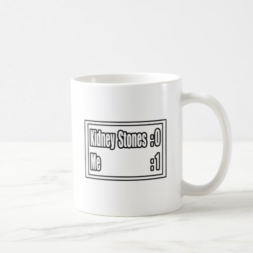 I Beat Kidney Stones (Scoreboard) Coffee Mugs