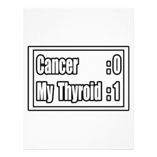 I Beat Thyroid Cancer Scoreboard Full Color Flyer