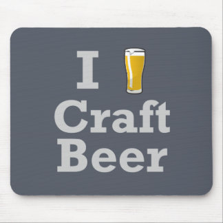 I [beer] Craft Beer Mouse Mat