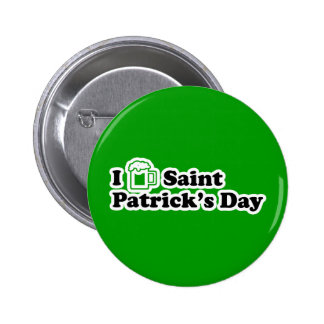 I Beer Saint Patrick's Day 6 Cm Round Badge