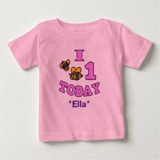 I Bees One Today First Birthday Girl Shirt