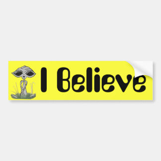 I Believe Alien Bumper Sticker