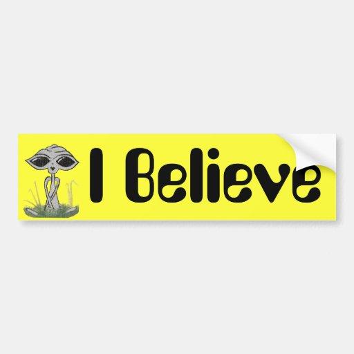 I Believe Alien Bumper Sticker