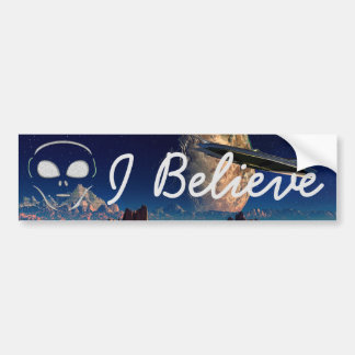 I Believe, Aliens UFO Bumper Sticker