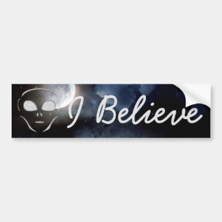 I Believe, Aliens UFO Planet  Bumper Sticker