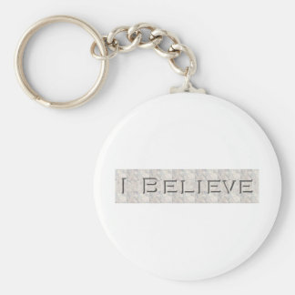 i believe basic round button key ring