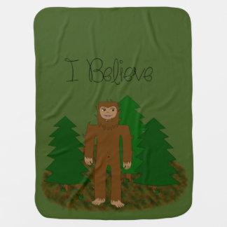 I Believe - Bigfoot - change color Baby Blanket