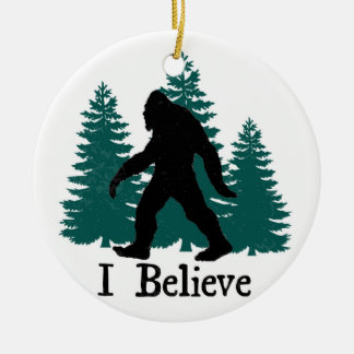 I Believe Bigfoot & Trees Christmas Ornament