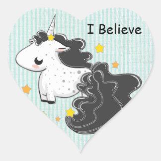 I believe Black cartoon unicorn with stars sticker