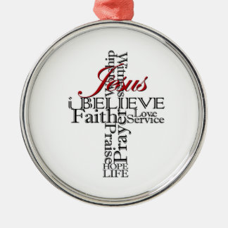 i believe Christian faith round CHRISTmas ornament