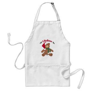 I Believe! Christmas Teddy Bear Standard Apron