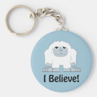 I Believe! Cute Yeti Basic Round Button Key Ring