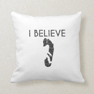 I Believe (Distressed) Throw Pillow