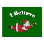 I Believe Flying Santa Postcards
