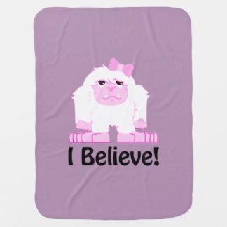 I Believe! Girl Yeti Baby Blanket