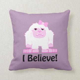 I Believe! Girl Yeti Cushion