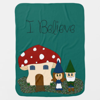 I Believe - Gnomes - change color Baby Blanket