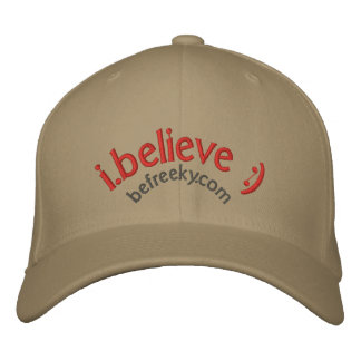 i.believe hat :) embroidered hats