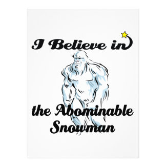 i believe in abominable snowman custom announcement