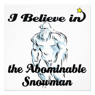 i believe in abominable snowman invites
