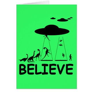 I believe in aliens card